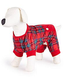 Matching Family Pajamas Brinkley Plaid Pet Pajamas, Created for Macy's