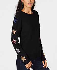 I.N.C. Sequin-Star Sweater, Created for Macy's
