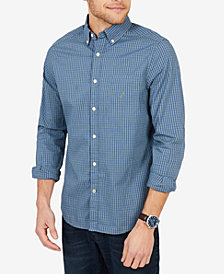 Nautica Men's Plaid Poplin Classic Fit Shirt