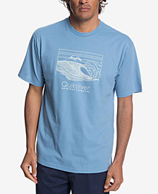 Quiksilver Men's Waterman Sketchy Scene Logo Graphic T-Shirt