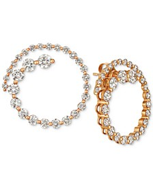 Diamond Swirl Stud Earrings (2-1/3 ct. t.w.) in 14k Rose Gold