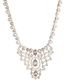 "Givenchy Crystal & Stone Statement Necklace, 16"" + 3"" extender"