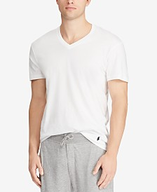 Polo Ralph Lauren Men's Big & Tall 2-Pk. Cotton V-Neck T-Shirts