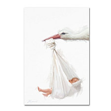 The Macneil Studio 'Stork and Baby' Canvas Art Collection