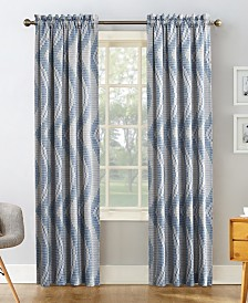 "CLOSEOUT! Sun Zero Coda Room Darkening Woven Curtain 54"" x 84"" Panel"