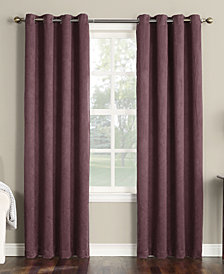 "CLOSEOUT! Sun Zero Collins Crushed Solid Room Darkening Woven Curtain 50"" x 63"" Panel"