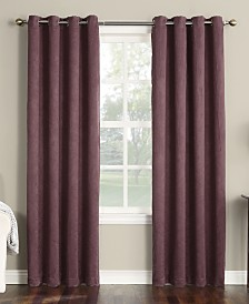 CLOSEOUT! Sun Zero Collins Crushed Solid Room Darkening Woven Curtain Panel Collection