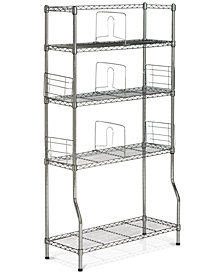 Fernand Chrome Wire Book Rack, Quick Ship