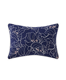 "Oceanfront Resort Indienne Paisley Embroidered Floral 12"" x 18"" Decorative Pillow"