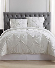 Pleated Full/Queen Comforter Set