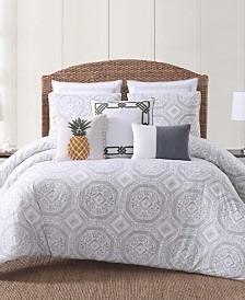 Oceanfront Resort Sunwashed Isle Printed 3 Piece King  Comforter Set