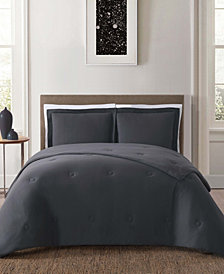 Truly Soft Solid Jersey Full/Queen 3 Piece Comforter Set