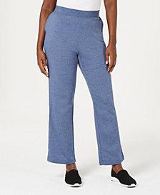 Karen Scott Side-Pocket Active Fleece Pants, Created for Macy's