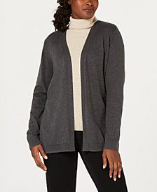 Karen Scott Petite Cotton Open-Front Cardigan, Created for Macy's