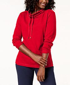 Karen Scott Adjustable Funnelneck Top, Created for Macy's