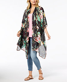 Betsey Johnson Wild Iris Wrap & Cover-Up