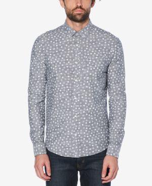 ORIGINAL PENGUIN Men'S Snowflake Pocket Shirt in Dark Sapphire