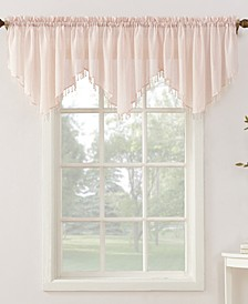 """No. 918 Crushed Voile 51"""" x 24"""" Beaded Sheer Ascot Valance"""