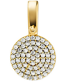 Michael Kors Women's Custom Kors Sterling Silver Pave Disc Charm