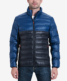 Michael Kors Men's Hartwich Colorblocked Quilted Down Jacket