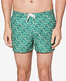 Original Penguin Men's Ditsy Floral-Print Quick-Dry Swim Trunks