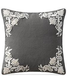 "VCNY Home Lyssa Embroidered 18"" Square Decorative Pillow"