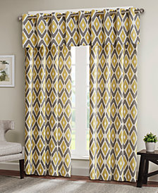 "Madison Park Ashlin Diamond-Print 50"" x 18"" Grommet Window Valance"