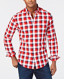 Tommy Hilfiger Men's Classic Fit Pat Plaid Shirt, Created for Macy's