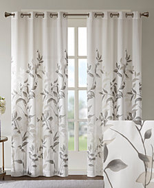 "Madison Park Cecily Printed Grommet 50"" x 84"" Window Panel Product"