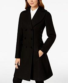 Double-Breasted Side-Corset Walker Coat