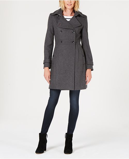 4fac2f948 Tommy Hilfiger Double-Breasted Peacoat   Reviews - Coats - Women ...