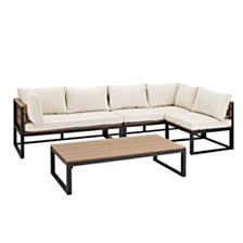 4-Piece All-Weather Patio Conversation Set - Natural