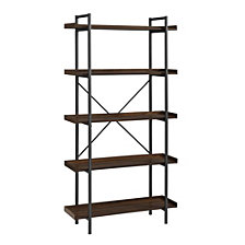 "68"" Urban Pipe Bookshelf - Dark Walnut"
