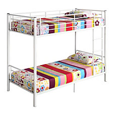 Premium Metal Twin over Twin Bunk Bed - White