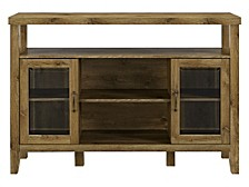 "52"" Wood Console High Boy Buffet"