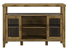 "52"" Wood Console High Boy Buffet - Barnwood"