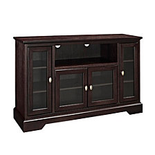"52"" Wood Highboy TV Media Stand Storage Console - Espresso"