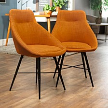 Urban Upholstered Side Chair, Set of 2 - Orange