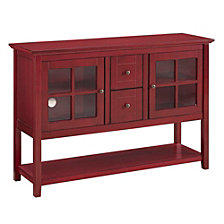 "52"" Wood Console Table TV Stand - Antique Red"