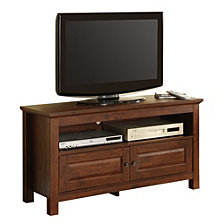 "44"" Wood TV Media Stand Storage Console - Brown"