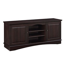 "60"" Modern TV Stand Storage Console with Center Shelves"