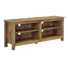 "58"" Wood Media TV Stand Storage Console - Barnwood"