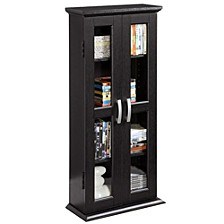 "41"" Wood Media Storage Tower Cabinet"