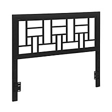 Queen Metal Square Headboard - Black