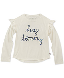 Tommy Hilfiger Big Girls Sequin Ruffle-Trim T-Shirt