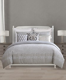 Lacourte Chateau Cotton Reversible 8-Pc. Queen Comforter Set