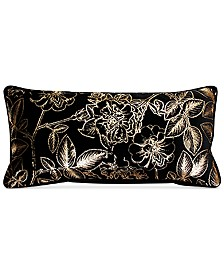 "THRO Rosalia Rose Sammy Soft Velvet 12"" x 24"" Decorative Pillow"