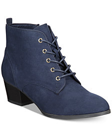 Charter Club Carlee Lace-Up Booties, Created for Macy's