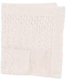 Ralph Lauren Baby Girls Bear Pointelle Cotton Blanket