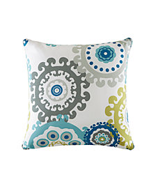 "Madison Park Laguna 20"" x 20"" Printed Medallion 3M Scotchgard Outdoor Square Pillow"